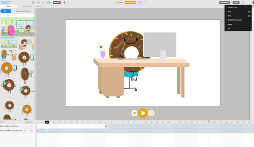web animation editing service